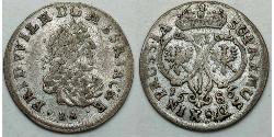 VI grossus Бранденбург-Пруссия (1618-1701) Срібло Фрідріх Вільгельм I (1620 - 1688)