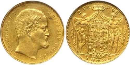 Дания Золото Фредерик VII король Дании (1808-1863)