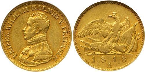 Королівство Пруссія (1701-1918) Золото Фрідрих Вільгельм III, король Пруссії  (1770 -1840)
