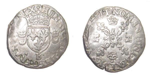 Королевство Франция (843-1791) Серебро Генрих II король Франции (1519-1559)