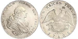 Royaume de Prusse (1701-1918) Argent Frédéric-Guillaume II de Prusse