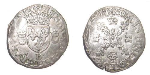Francia medioevale (843-1791) Argento Enrico II di Francia (1519-1559)