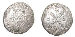 Reino de Francia (843-1791) Plata Enrique II de Francia (1519-1559)