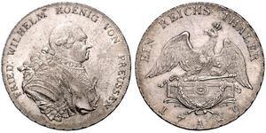 Reino de Prusia (1701-1918) Plata Federico Guillermo II de Prusia