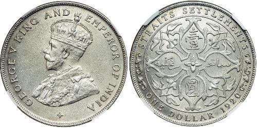 Straits Settlements (1826 - 1946) Silber George V (1865-1936)