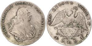 Kingdom of Prussia (1701-1918) Silver Frederick William II of Prussia