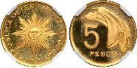 5 Песо Уругвай Золото