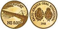 5000 Песо Уругвай Золото
