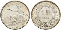 1 Franc Suiza Plata
