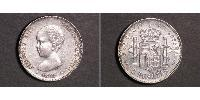 2 Peseta Kingdom of Spain (1874 - 1931) Argento Alfonso XIII of Spain (1886 - 1941)