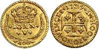 400 Reis Kingdom of Portugal (1139-1910) Gold John V of Portugal (1689-1750)