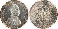 5 Марка Королівство Пруссія (1701-1918) Срібло Wilhelm II, German Emperor (1859-1941)