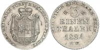 1/3 Thaler Waldeck (state) (1180 - 1918) Silver George II, Prince of Waldeck and Pyrmont