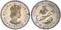 1 Crown 百慕大 銀 伊丽莎白二世 (1926-)