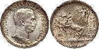 2 Lira 意大利王國 (1861-1946)  维托里奥·埃马努埃莱三世 (1869 - 1947)