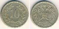 10 Heller Impero austro-ungarico (1867-1918) Rame/Zinco/Nichel Franz Joseph I (1830 - 1916)