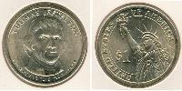 1 Dollar 美利堅合眾國 (1776 - )  Thomas Jefferson (1743-1826)
