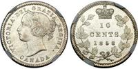 10 Cent Canadá Plata Victoria (1819 - 1901)