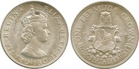 1 Crown Bermudas Plata Isabel II (1926-)