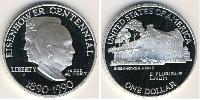 1 Долар США (1776 - ) Срібло Дуайт Девід  Ейзенхауер (1890-1969)