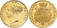 1/2 Sovereign 大不列颠及爱尔兰联合王国 (1801 - 1922) 金 维多利亚 (英国君主)