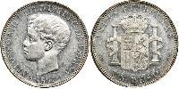 1 Peso Philippinen Silber Alfonso XIII of Spain (1886 - 1941)