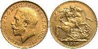 1 Sovereign Australia (1788 - 1939) Gold George V of the United Kingdom (1865-1936)