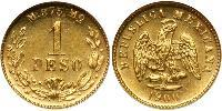 1 Peso Mexique (1867 - ) Or