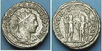 1 Antoniniano Imperio romano (27BC-395) Plata Galieno (218-268)