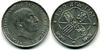 100 Peseta Francoist Spain (1936 - 1975) Silver Francisco Franco (1892 – 1975)
