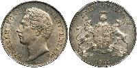 2 Gulden Kingdom of Württemberg (1806-1918) 銀 威廉一世 (符腾堡)