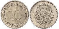 10 Pfennig Deutschland Kupfer/Nickel