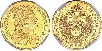 1 Ducat Sacro Imperio Romano (962-1806) Oro Carlos VI, Emperador del Sacro Imperio Romano (1685-1740)