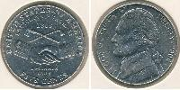 5 Cent USA (1776 - ) Copper/Nickel Thomas Jefferson (1743-1826)