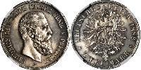 2 Mark Royaume de Prusse (1701-1918) Argent Frédéric III (Empire allemand) (1831-1888)