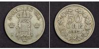 50 Ore Svezia Argento Oscar II di Svezia (1829-1907)