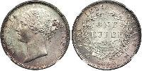 1 Rupee Compagnie anglaise des Indes orientales (1757-1858) Argent Victoria (1819 - 1901)