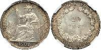 20 Cent French Indochina (1887-1954) Silver