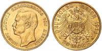 20 Mark Grand Duchy of Hesse (1806 - 1918) Gold Ernest Louis, Grand Duke of Hesse (1868 - 1937)