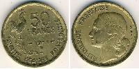 50 Franc Cuarta República francesa (1946-1958) Bronce/Aluminio