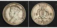 6 Penny Fidschi Silber George V (1865-1936)
