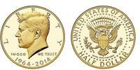 1/2 Dollar USA (1776 - ) Gold John Fitzgerald Kennedy (1917-1963)
