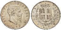 5 Lira Kingdom of Italy (1861-1946) Silver Victor Emmanuel II of Italy (1820 - 1878)