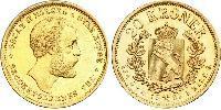 20 Крона Норвегія Золото Оскар II (1829-1907)