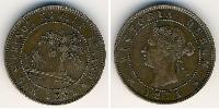 1 Цент Британська імперія (1497 - 1949) Бронза Вікторія (1819 - 1901)