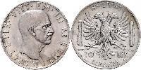 10 Лек Королевство Албании (1939-1943) Серебро Виктор Эммануил III (1869 - 1947)