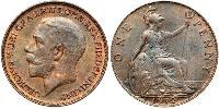 1 Penny United Kingdom of Great Britain and Ireland (1801-1922) Bronze George V of the United Kingdom (1865-1936)