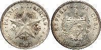 1 Peso Cuba Silver