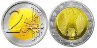 2 Euro Germany Bimetal
