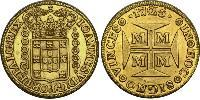 20000 Reis Brasil Oro Juan V de Portugal (1689-1750)